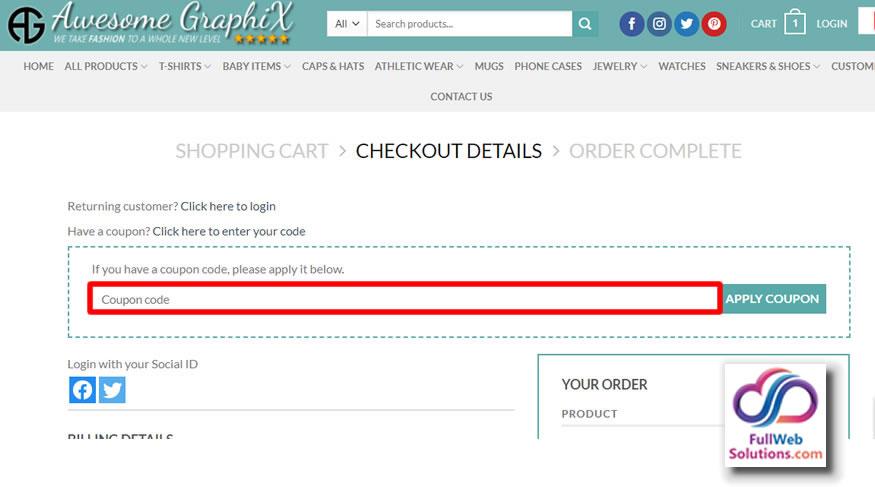 coupon cart